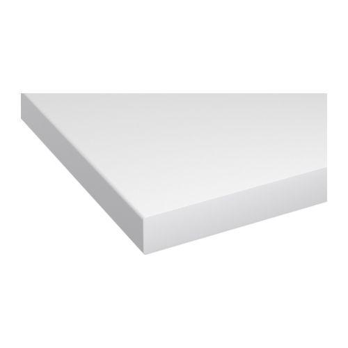 Saljan Plan De Travail Blanc Stratifie 246x3 8 Cm Plan De Travail Ikea Styles Traditionnels