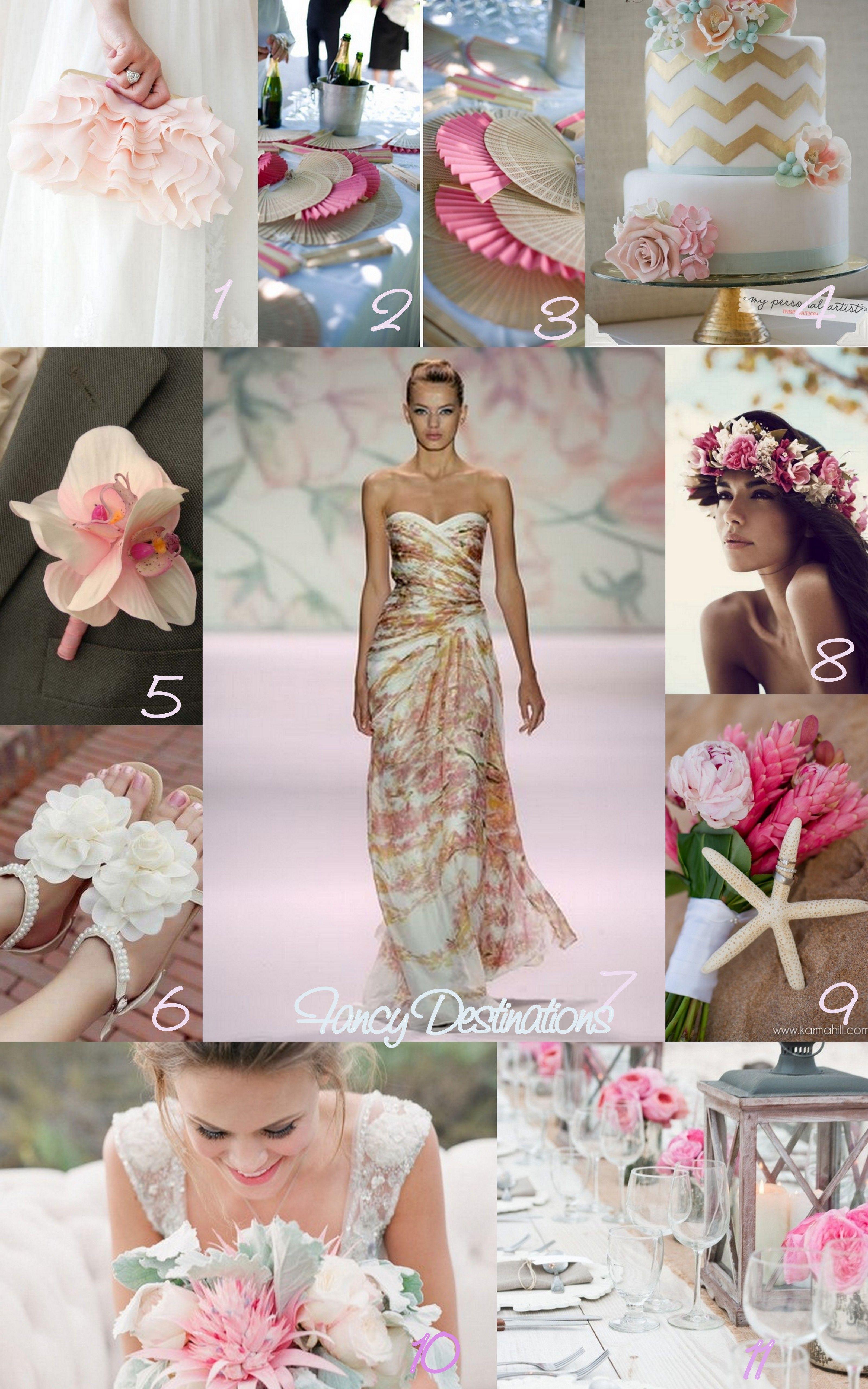 A tropical romance inspiration board soft blush pink so perfect
