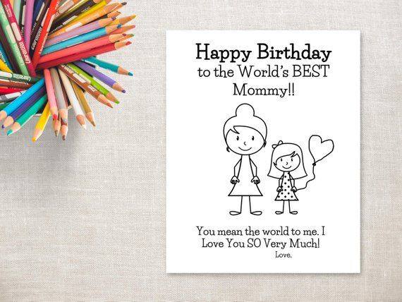 photo regarding Birthday Cards for Mom From Daughter Printable identified as Birthday Coloring Printable- Lady Mother (with bun)- Birthday