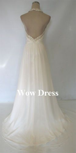 Gorgeous Halter Prom Dress/ Long Prom Dress/ White by WowDress, $102.00