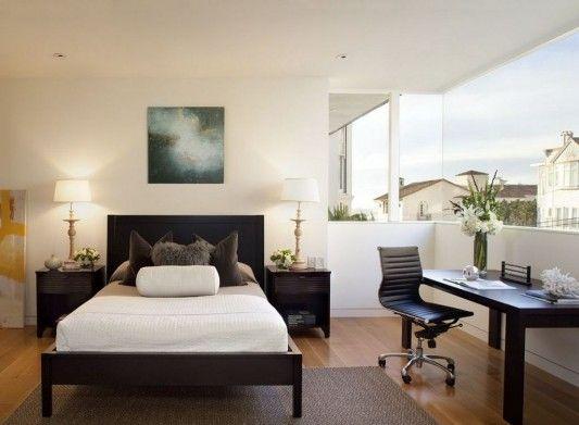 Modern four-storey urban home design minimalist bedroom and workspace