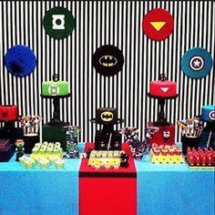 festa super heróis clean - Pesquisa Google