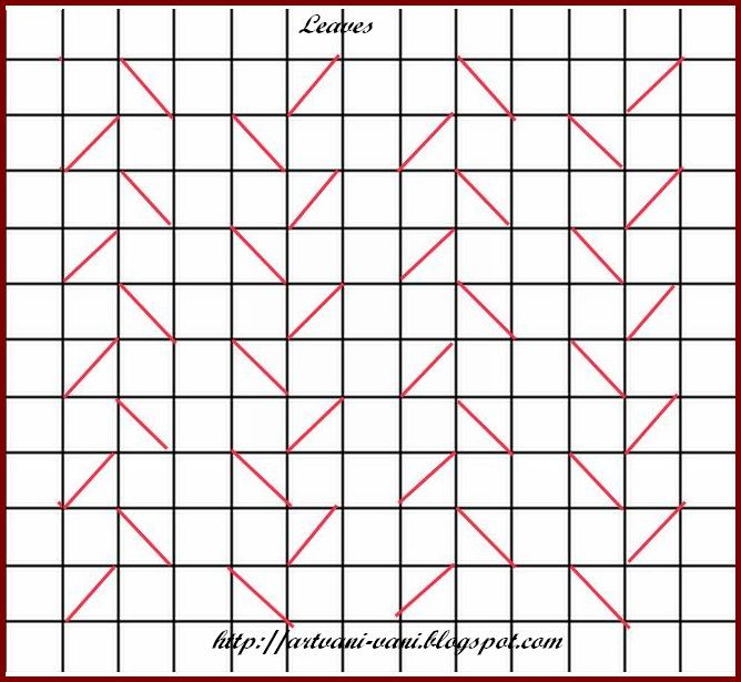 This is Leaf design in Canadian smocking.I have used 2cm square graph.I feel if I had used 1.5cm graph the design … | Canadian smocking, Smocking pattern, Smocking