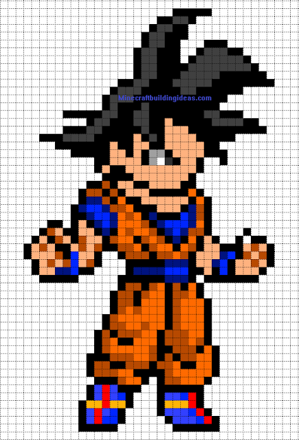 Dragon Ball Goku Perler Bead Pattern Pixel Art Templates