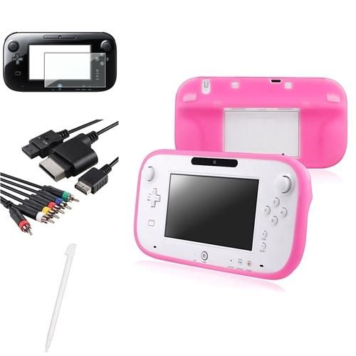 INSTEN 2x Pink Gamepad Silicone Case 4in1 AV Component Cable 2x LCD White Pen For Wii U Review Buy Now