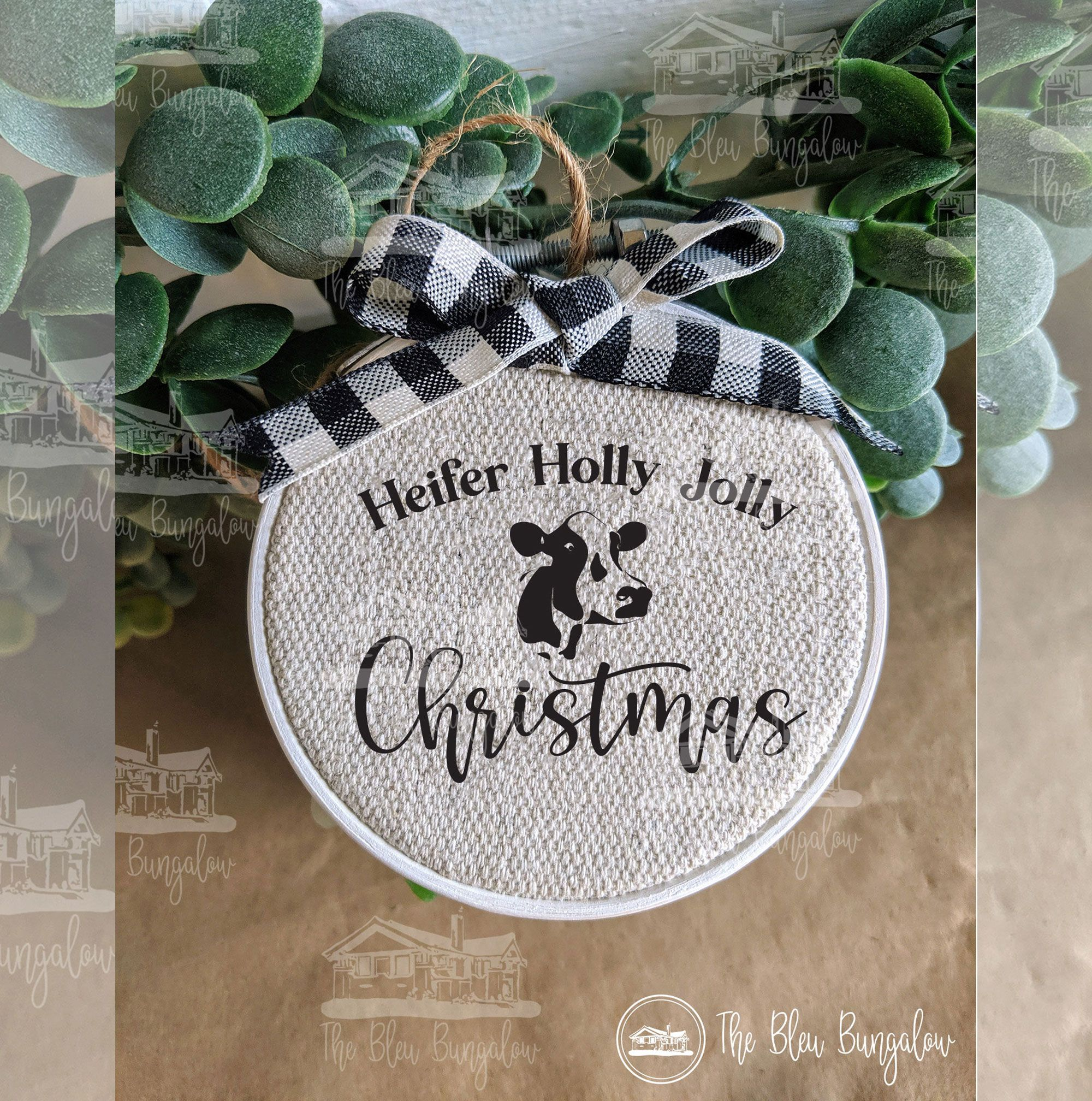 Heifer Holly Jolly Christmas! Super cute cowthemed SVG to