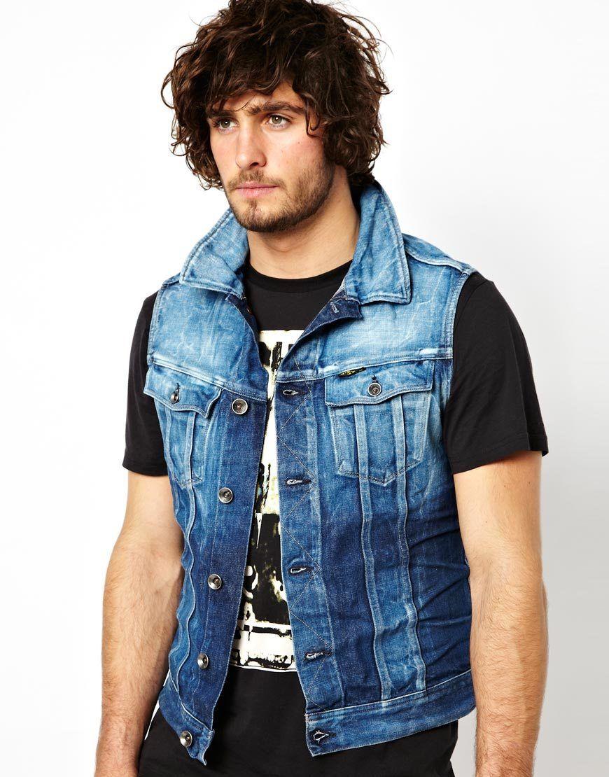 92f4bf1fdbc sleeveless jean jacket men Sleeveless Jean Jackets