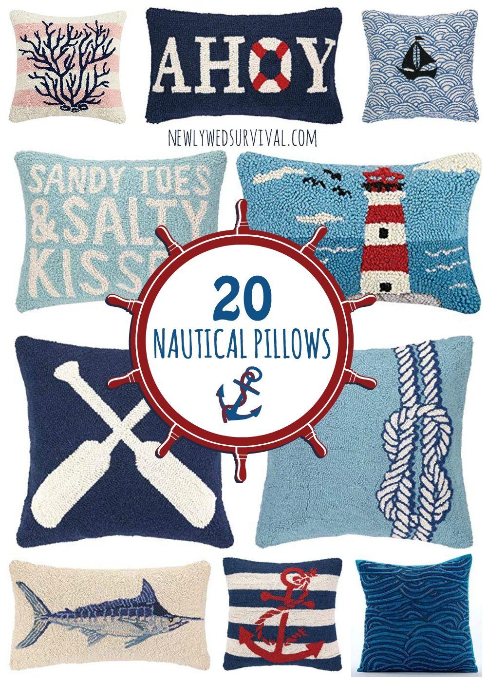 20 Nautical Throw Pillows Nautical Throw Pillows Nautical