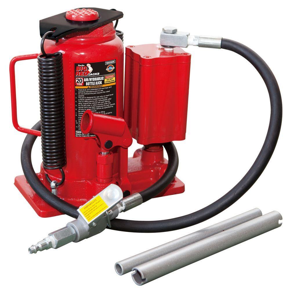 Torin TA92006 TA92006 Big Red Air Hydraulic Bottle Jack 20 Ton Capacity
