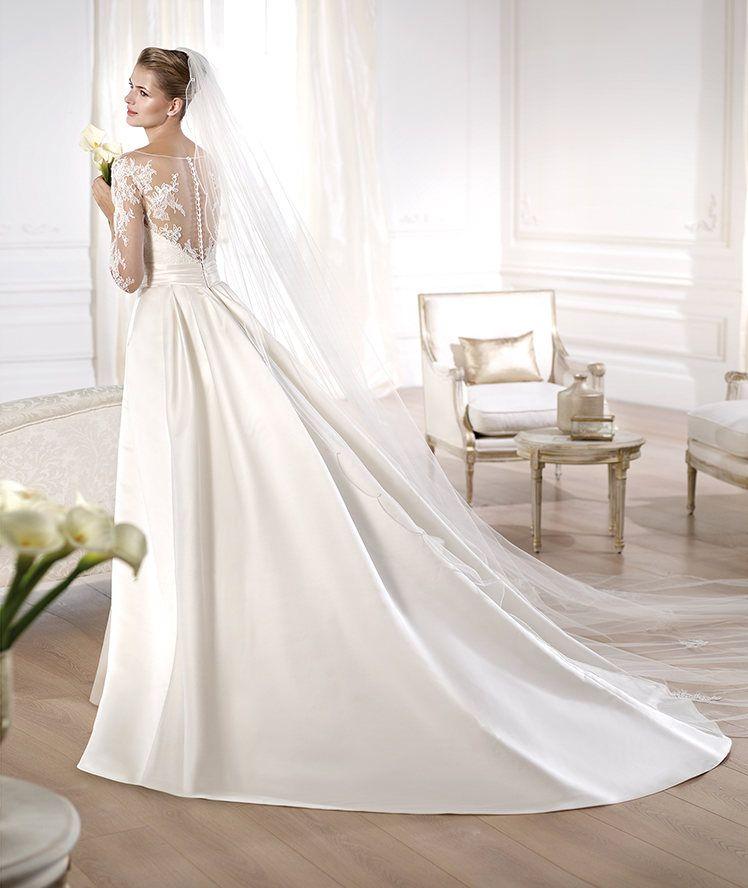2e8e71251 Vestidos de novia 2014 de Pronovias vintage - Vestido con espalda efecto  ilusión Modelo Odette Pronovias