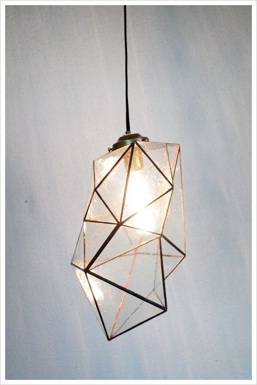 Geometric pendant lamps from the Collected by lamp series by Jason Koharik