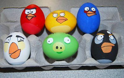 Angry birds Easter eggs.  I love it!!!