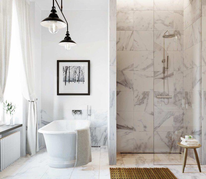 Badrumsinspiration 23 Badrum Med Vit Marmor Som Bas Skona Hem Glamorous Bathroom Marble Bathroom Designs Bathroom Inspiration
