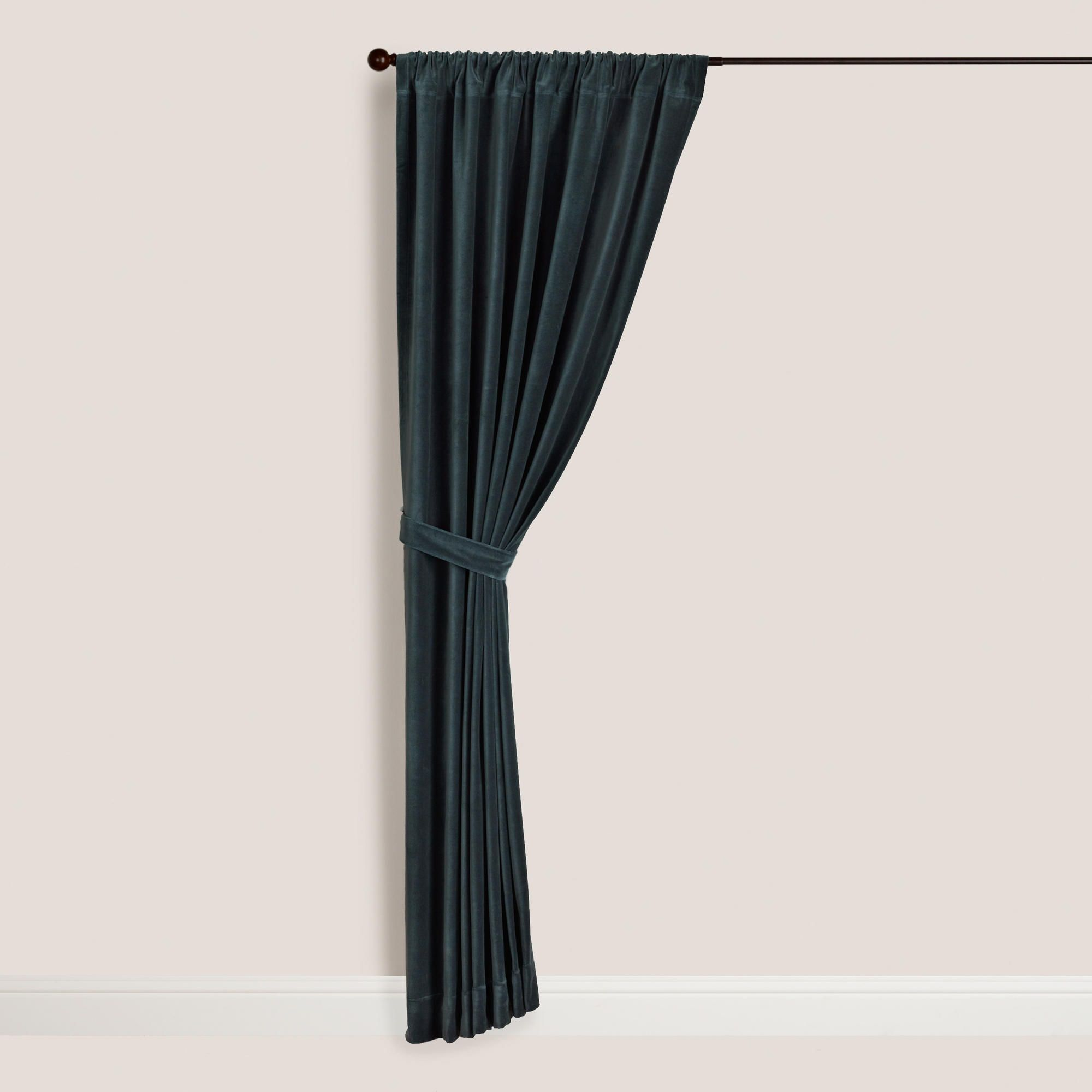 dining rod for steel off window white panels decoration panel awesome black curtains with curtain double wonderful velvet design interior