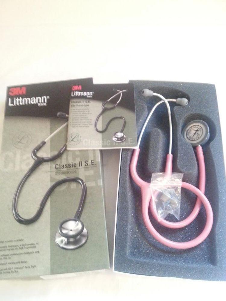 3m Littmann Classic Ii Se 28 Stethoscope Pearl Pink 2817 New Open