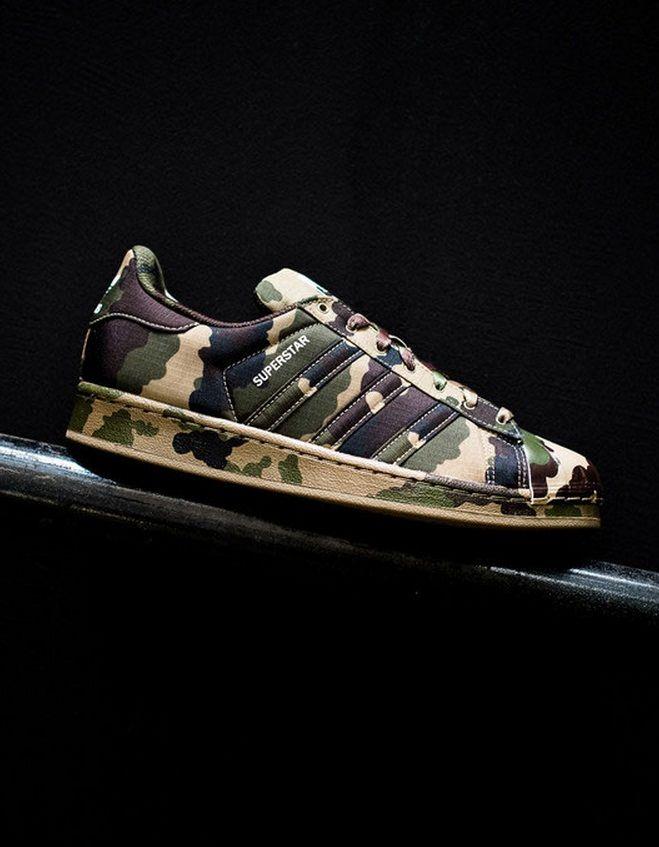 72d2245f677 Adidas Originals Superstar Shell Head Desert Sandals Shoes Women Men  Camouflage Origin Best