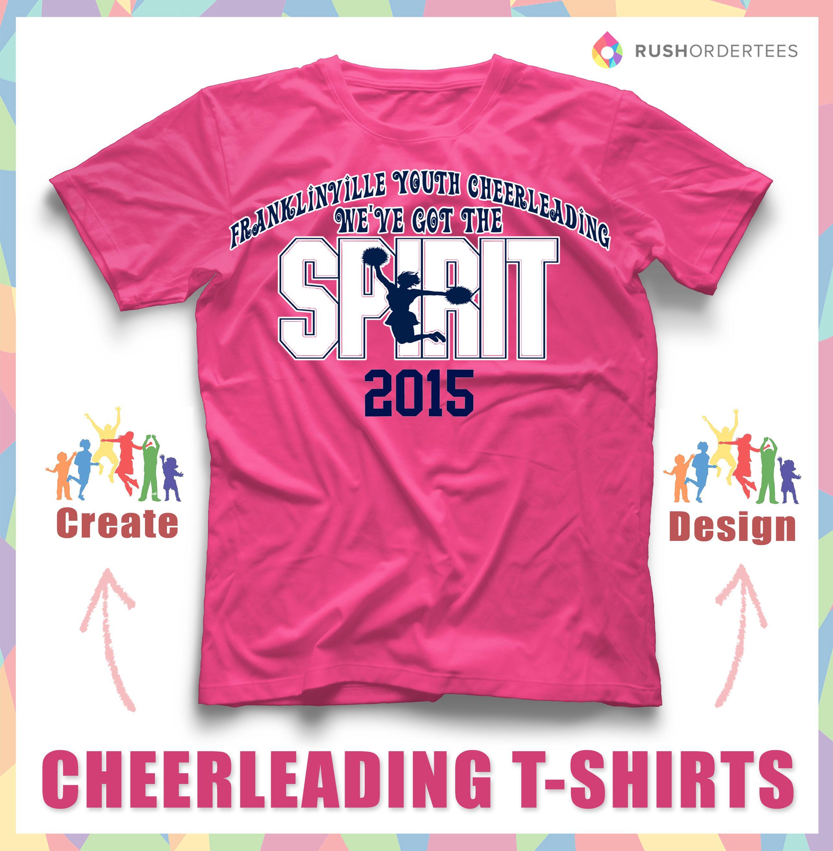 custom cheerleading t shirt design idea create - Cheer Shirt Design Ideas
