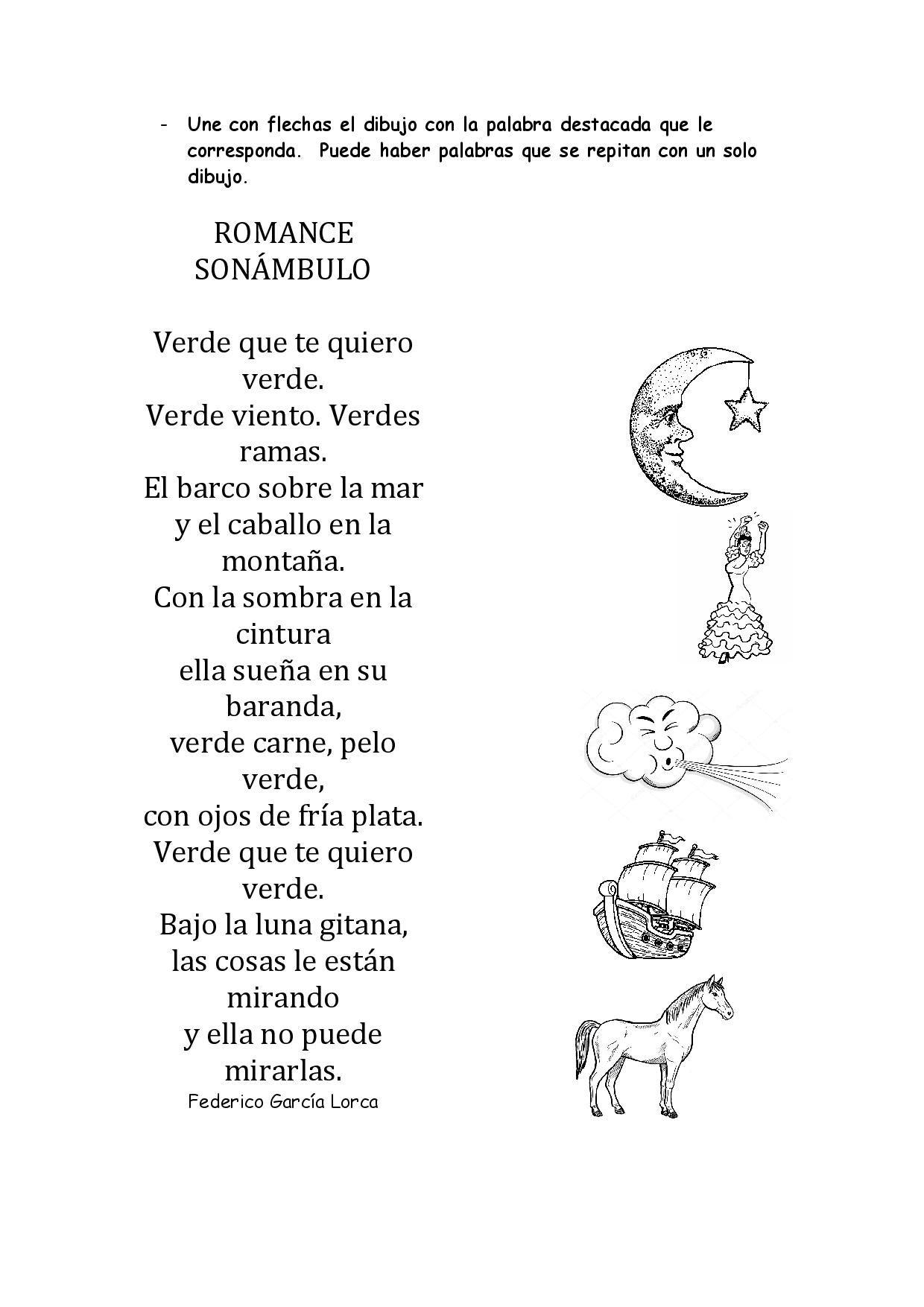 Romance Sonámbulo Romance Leer Poemas