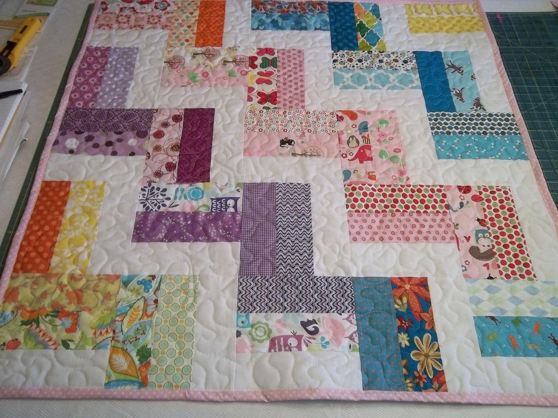 Quilt Pattern Tutorial, Zig Zag, Baby Quilt Pattern, pdf. $20.20 ...