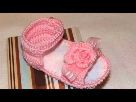Sandalias crochet bebe | Ganchillo bebe | Sandálias de