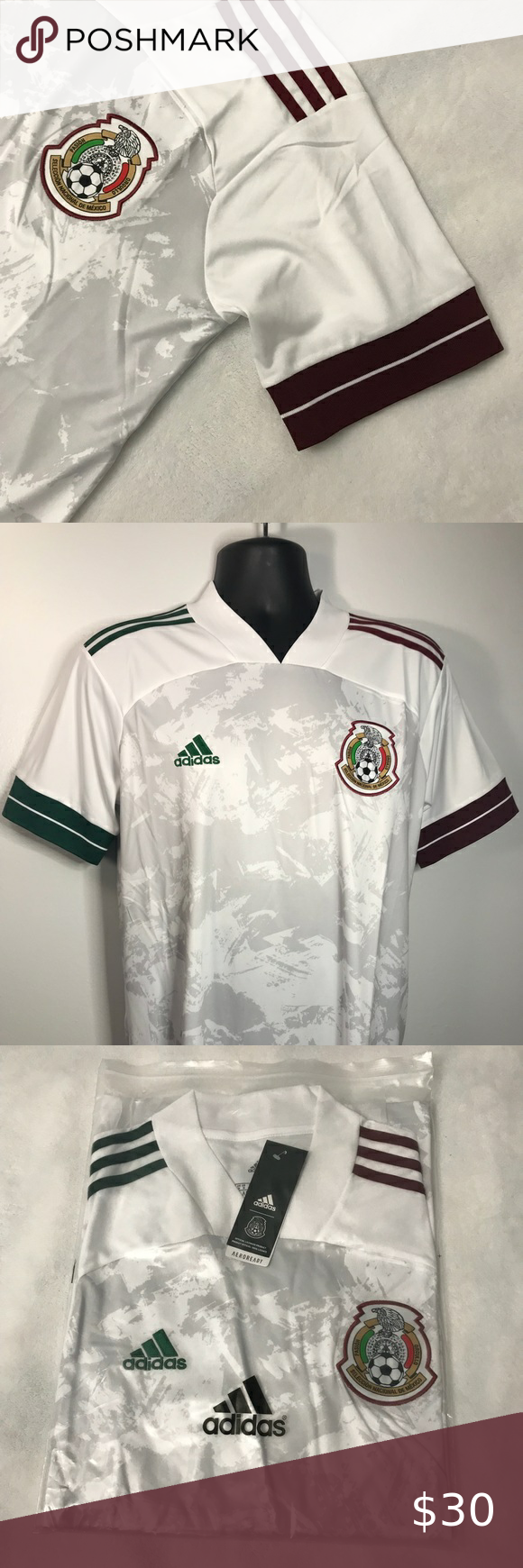 New 2020 Mexico White Away Soccer Jersey In 2020 Soccer Jersey Adidas Shirt Colorful Shirts