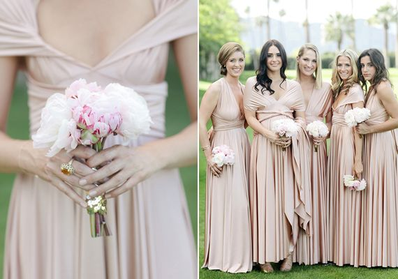 Two birds bridesmaid wedding dress