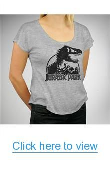 Jurassic Park Junior Fitted Dolman Tee #Jurassic #Park #Junior #Fitted #Dolman #Tee
