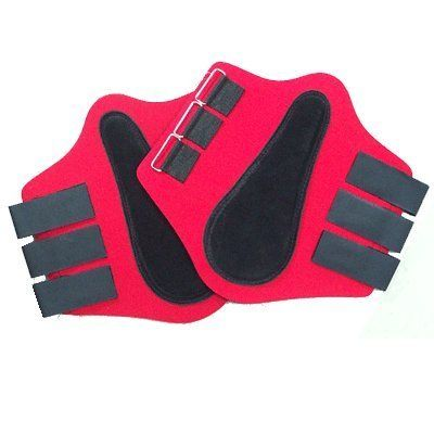 Intrepid International NEW Neoprene Horse Splint Boots with Black Suede Patches