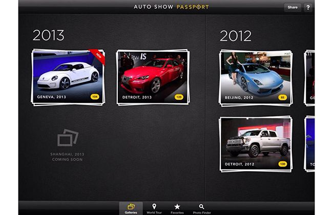 Auto show passport New app for motorshows AutoShow App
