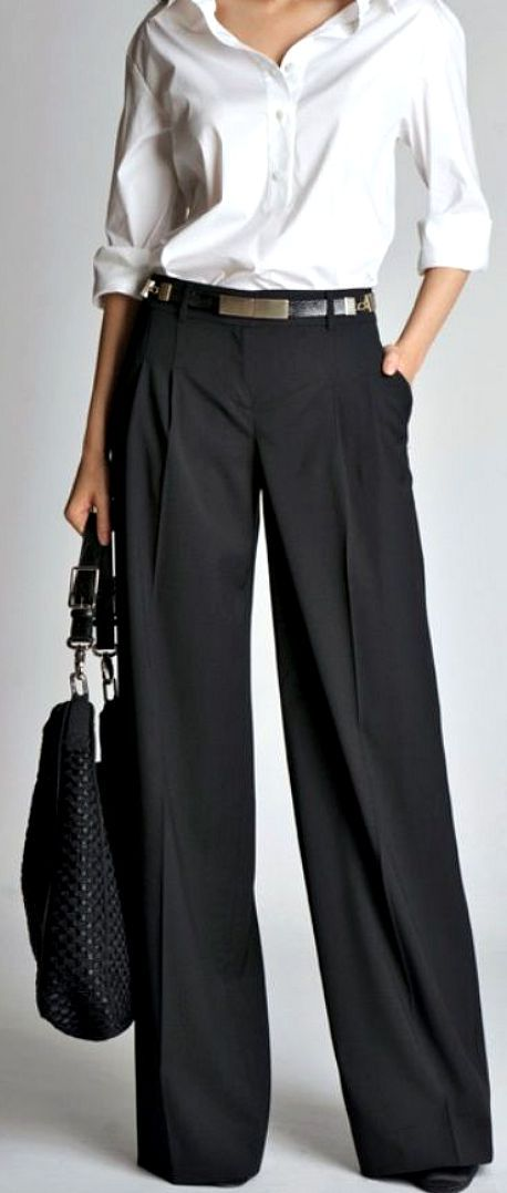 How to wear wide trousers #howtowear