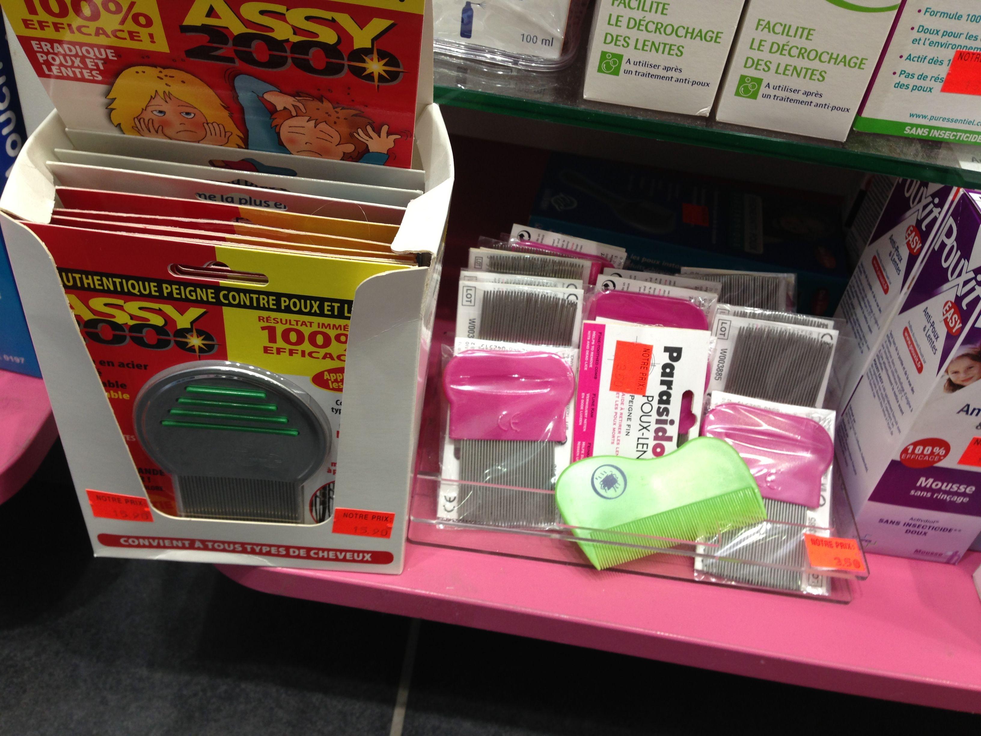 Lice removing supplies in Paris. Even Parisian children get lice.