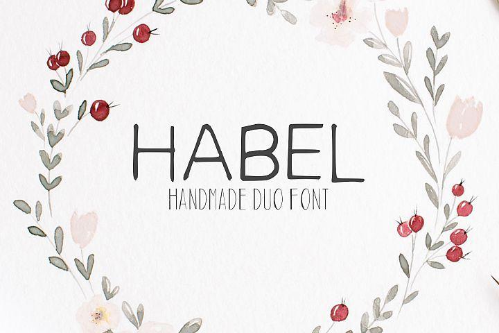 Download Free Download Habel Handmade Duo Font Bonus Free ...