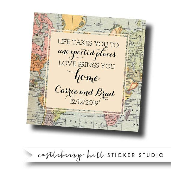 Destination Wedding Favor Labels Travel Theme By