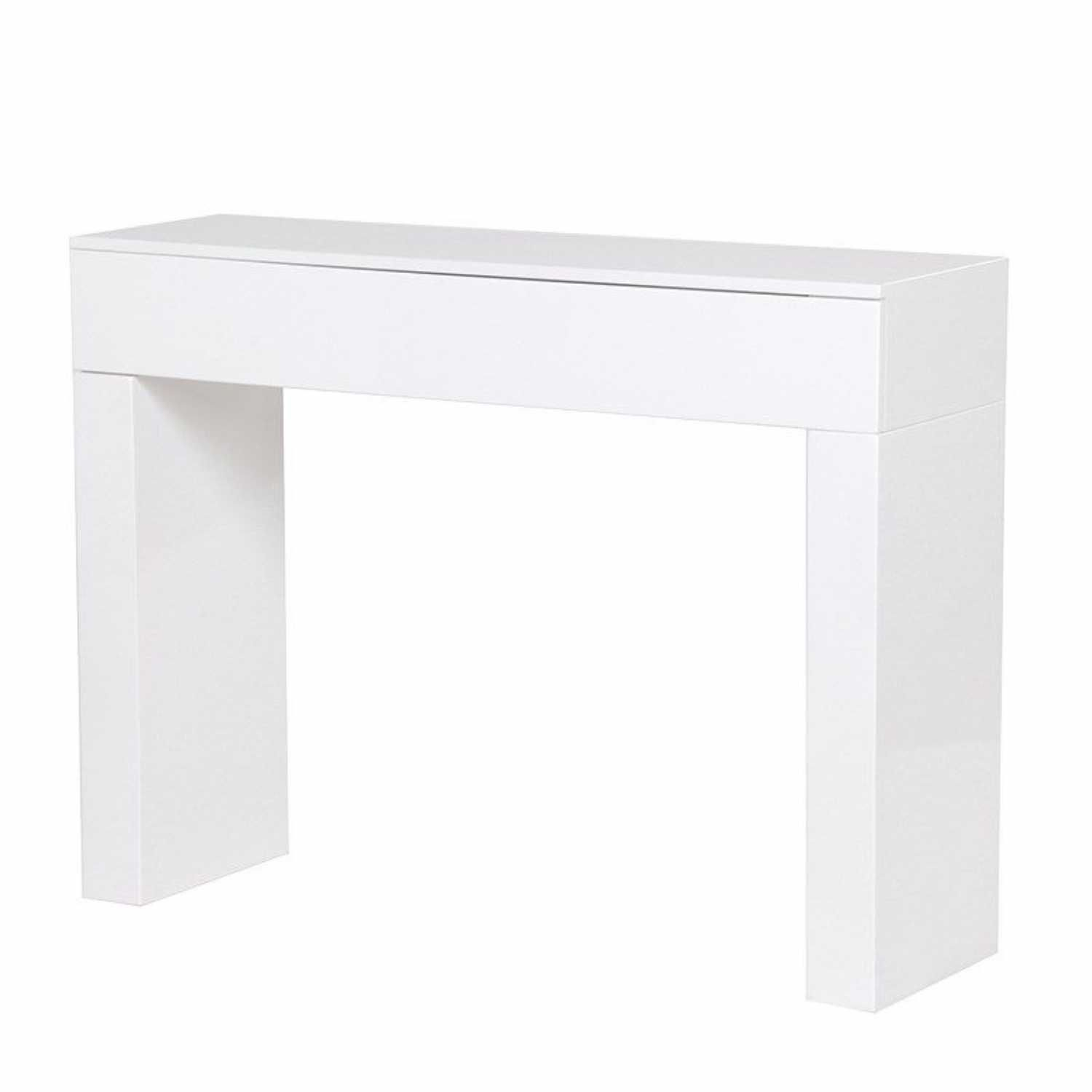 White high gloss slab console table httpargharts white high gloss slab console table geotapseo Gallery