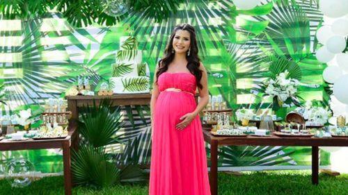 Así Fue El Increíble Baby Shower Tropical De Ana Patricia Gámez
