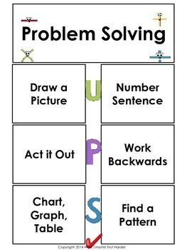 First Grade Problem Solving Unit Kit  Formal Assessment Riddle