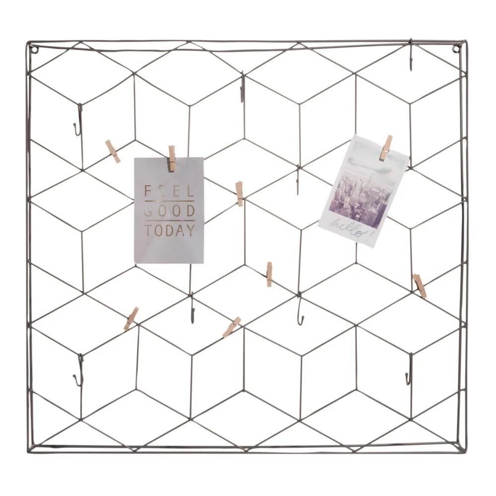 Pêle-mêle en métal gris 9x9 Graphik  Maisons du Monde  Style