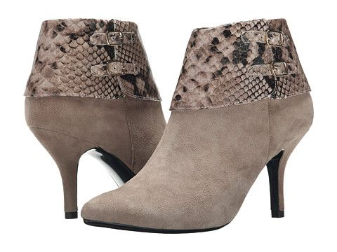 Womens Boots Vaneli Kandee Truffle Suede/Truffle Dialux Print/Gold Trims