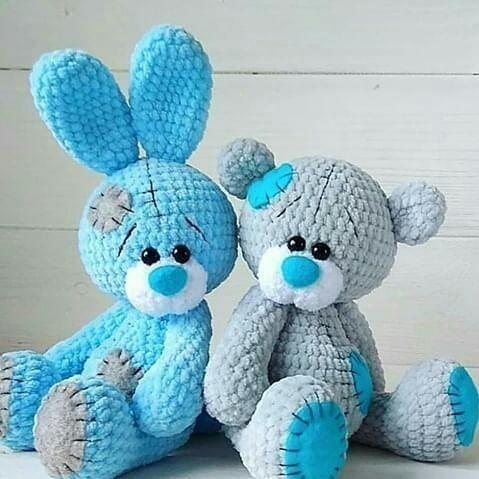 Amigurumi «Teddybär im Schlafanzug» Häkelanleitung PDF. Tutorial.  # #crochetteddybearpattern