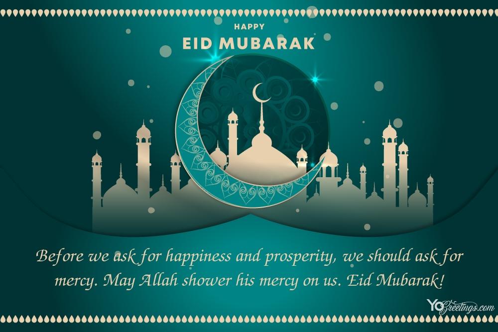 Customize Our Blue Eid Mubarak Card Templates Online In 2021 Eid Mubarak Card Eid Mubarak Wishes Images Happy Eid Mubarak Wishes