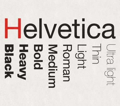 il font helvetica