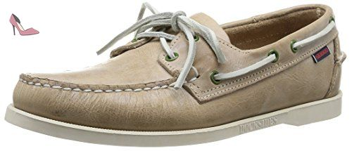 Sebago Docksides - Chaussures bateau - Homme - Marron (Taupe Waxy) - 40 EU (6.5 UK) - Chaussures sebago (*Partner-Link)