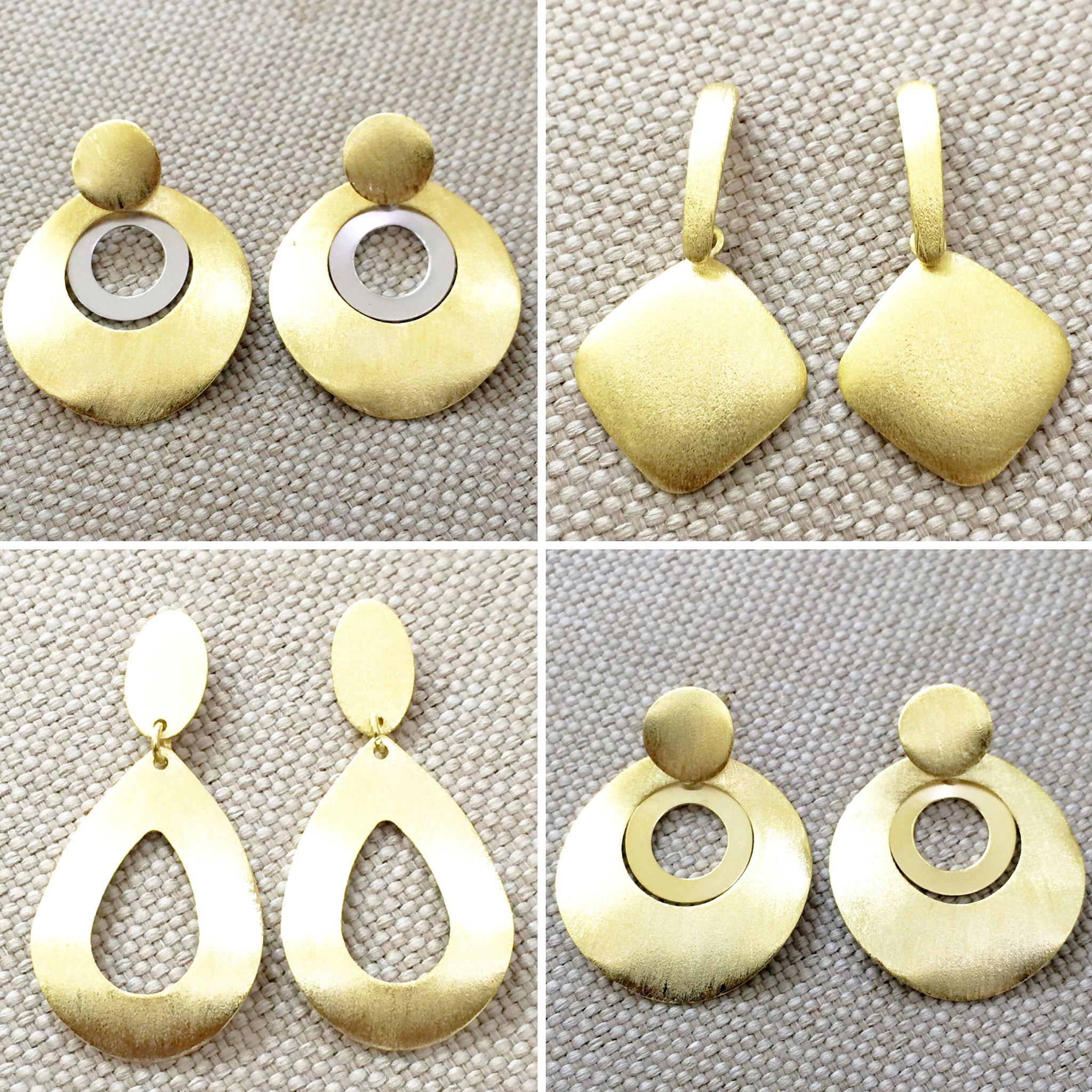 More amazing style of the Brazilian gold filled earrings