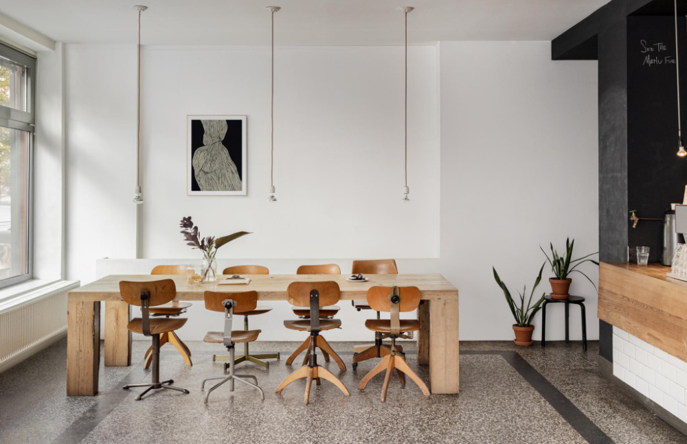 A minimalist Berlin coworking space is for sale