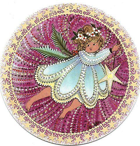 "1994 P. Buckley Moss Angel Child Christmas Ornament 3.25"" Diameter - Third in Angel Trilogy Anna-Perenna Porcelain http://www.amazon.com/dp/B00PBAH4DK/ref=cm_sw_r_pi_dp_6UnBub01SXJ5Y"