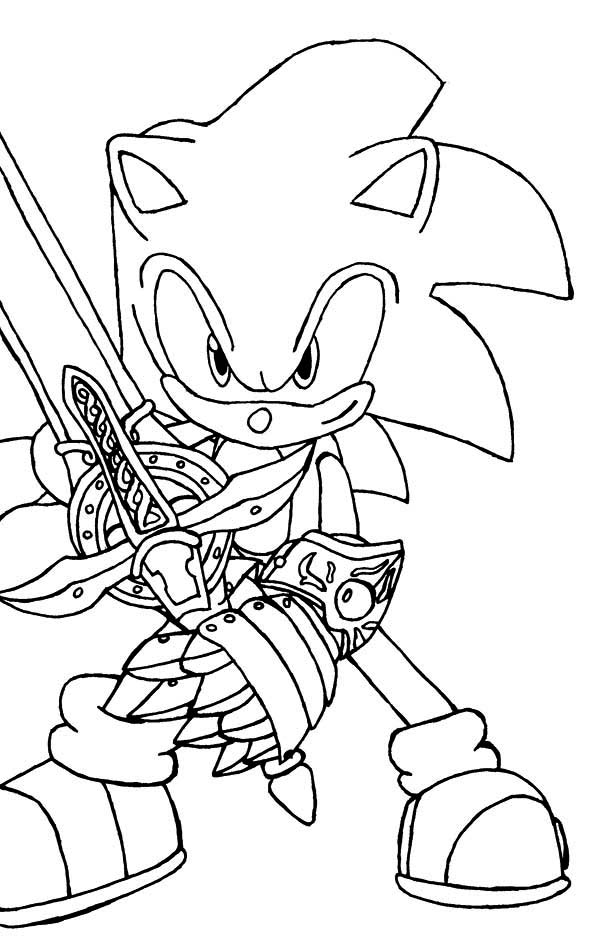 Sonic The Hedgehog And Sword Coloring Page Kids Play Color Elsa Coloring Pages Coloring Pages Free Coloring Pages