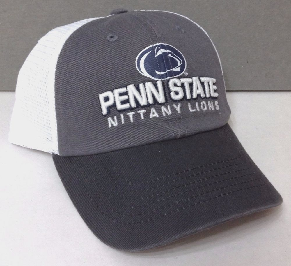 NEW top-of-the-world PENN STATE NITTANY LIONS HAT Relaxed-Fit Trucker Gray  White  TopoftheWorld  RelaxedFitTrucker  PennStateNittanyLions 6a133b556971