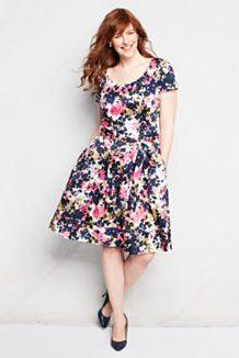 Women\'s Plus Size Dresses from Lands\' End | A Plus Size Fabulous ...