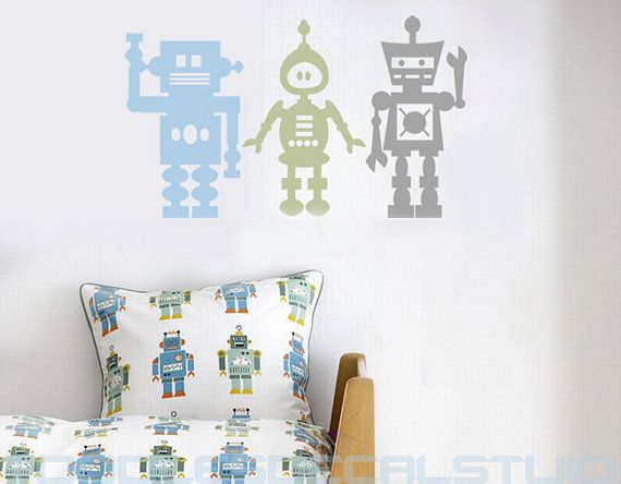 Robot for Kids room LARGE  Vinyl Wall decal