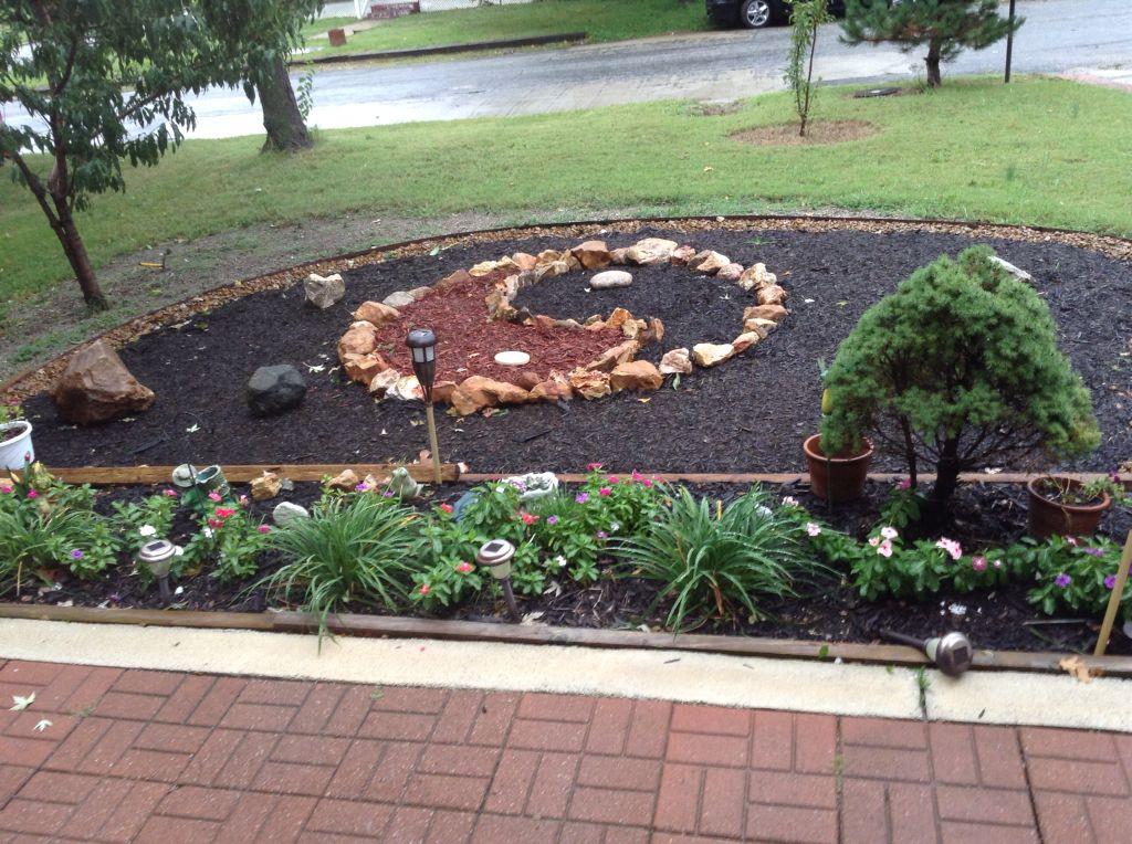 My yin yang garden.